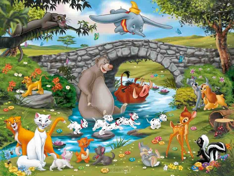 Puzzel  Familie van de Animal Friends