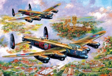 Puzzel Lancasters over Lincoln (500)