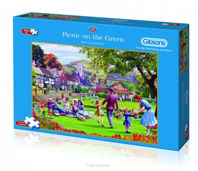 Puzzel Picnic on the Green (500XL)