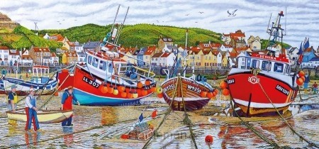 Puzzel Seagulls at Staithes (636)