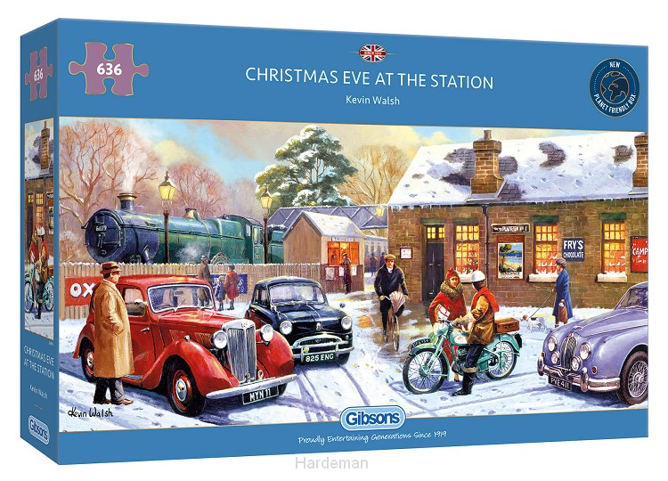 Puzzel Christmas eve at the station (636