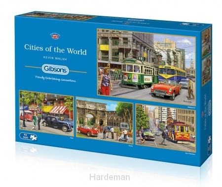 Puzzel Cities of the World (4x500)