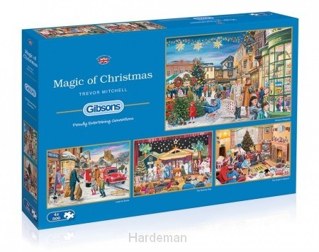 Puzzel Magic of Christmas  (4x500)