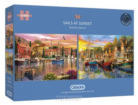 Puzzel Sails at Sunset (2 x 500)
