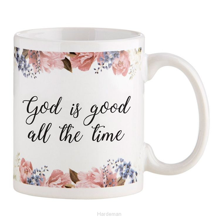 Mug God is good flower